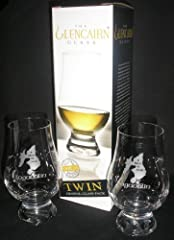 """These NEW, MINT 4-1/2"""" tall GLENCAIRN tasting glasses in the tulip shape design are QUALITY ETCHED with """"LAGAVULIN""""and the map of Islay, reading """"A TASTE OF ISLAY."""" This distillery produces a truly globally recognizable single malt scotch whi..."""