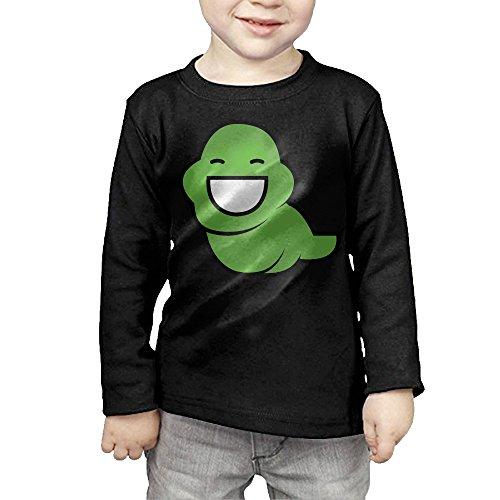[MHGJ Toddler Boy's & Girl's Comic Homestuck Logo Long Sleeve Tee 5-6 Toddler Black] (John Homestuck Costumes)