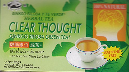Tai Chi Clear Thought (Ginkgo Biloba Green Tea) 12 Bags