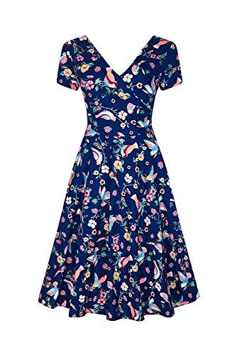 Grösse Bird Dress Swing Maria 2XL Kleid Charming Collectif 60er 0SUtxv