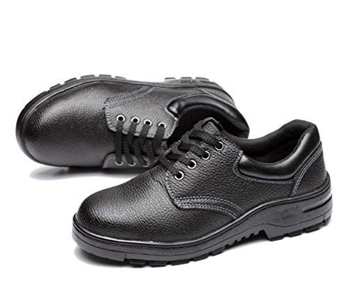 Jaime Aldo Mens Safe Restaurant Anti-Skid Oil-Proof Heavy Duty Steel Toe Work Shoes Black AU6NbnA71