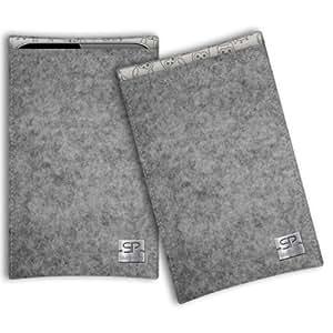SIMON PIKE Cáscara Funda de móvil Boston 11 gris Motorola Moto G 1. Gen Fieltro de lana