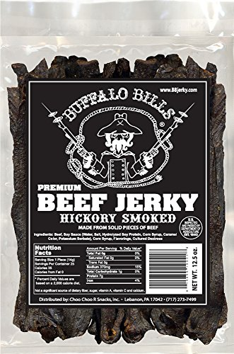 Buffalo Bills Premium Hickory Beef Jerky (hickory smoked beef jerky made from top round)