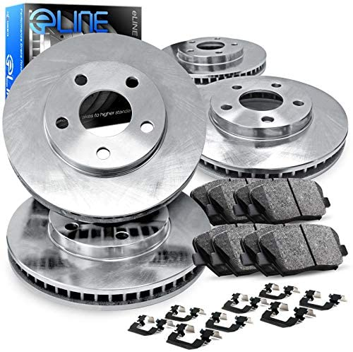 R1 Concepts CEOE10201 Eline Series Replacement Rotors And Ceramic Pads Kit Front and Rear