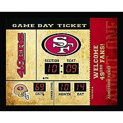 Team Sports America San Francisco 49ers Bluetooth Scoreboard Wall Clock