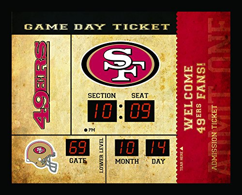 Team Sports America San Francisco 49ers Bluetooth Scoreboard Wall Clock San Francisco 49ers Wall