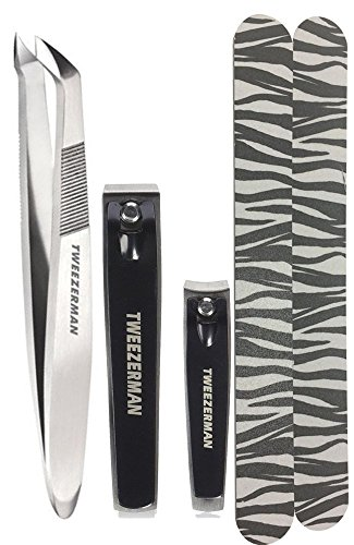 Tweezerman Nail Clipper Set & Professional Stainless Steel V
