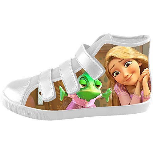 [TD^^MM Custom Cartoon Princess Disney Tangled Velcro High Top Canvas Kid's Shoes] (Miley Cyrus Princess Costume)