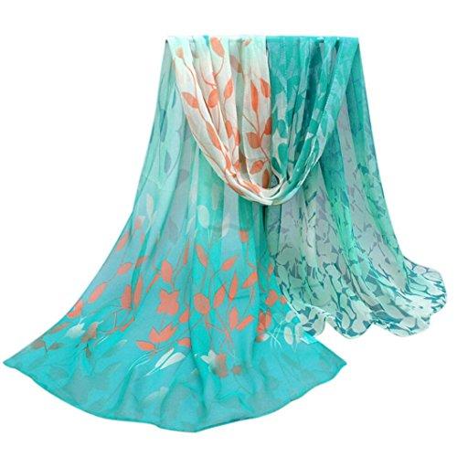 Rumas Women Floral Printed Scarf Soft Chiffon Shawl