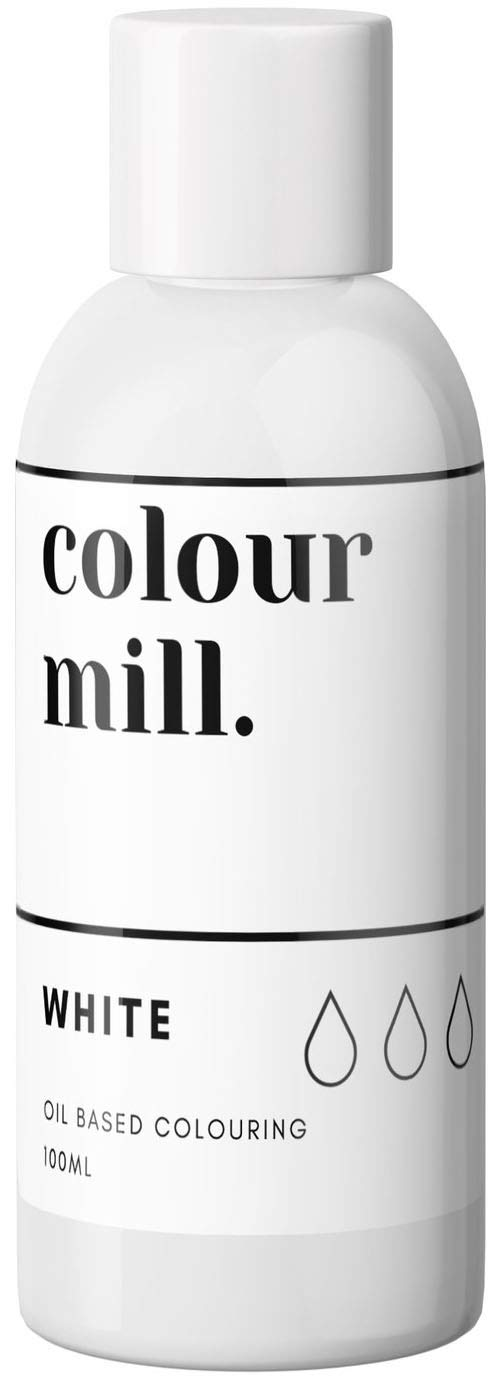 Colour Mill Oil-Based Food Coloring, 100 Milliliters White