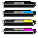 ShopAt247 ® Compatible Toner Cartridge Replacement for HP CE310A CE311A CE312A CE313A (1 Black, 1 Cyan, 1 Yellow, 1 Magenta, 4-Pack), Office Central