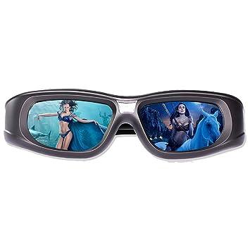UKE Gafas 3D, Gafas con Obturador Activo 3D Proyector Gafas con ...