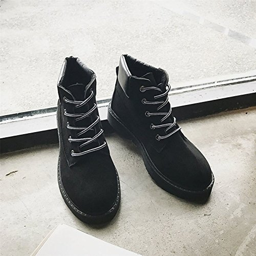 Winter Toe Black Flat for Boots Round PU Brown Comfort Outdoor Shoes Women's HSXZ ZHZNVX Black z6qIx