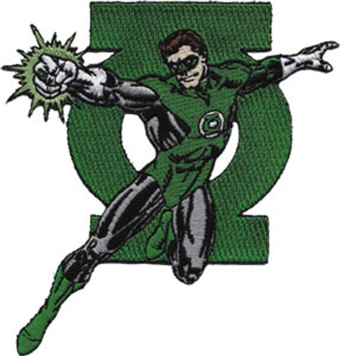 Application Green Lantern Figure and Logo Patch