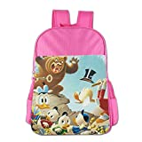 DuckTales Boys Girls School Bagpack Pink