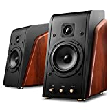 Swan Speakers - M200MKII Wifi - Powered 2.0 Bluetooth Bookshelf Speakers - Wooden cabinet - 5.25'' Midrange Woofer & 1'' Hard Dome Tweeter - CES Award Winner - HiFi Speakers - 80W RMS - Upgraded Version