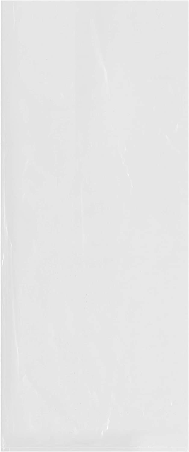 Plymor Flat Open Clear Plastic Poly Bags Pack of 100 2 Mil 10 x 24