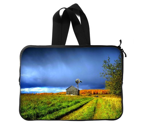 Beautiful Farm House Customized Office Laptop Sleeve Printint Twin Sides 15