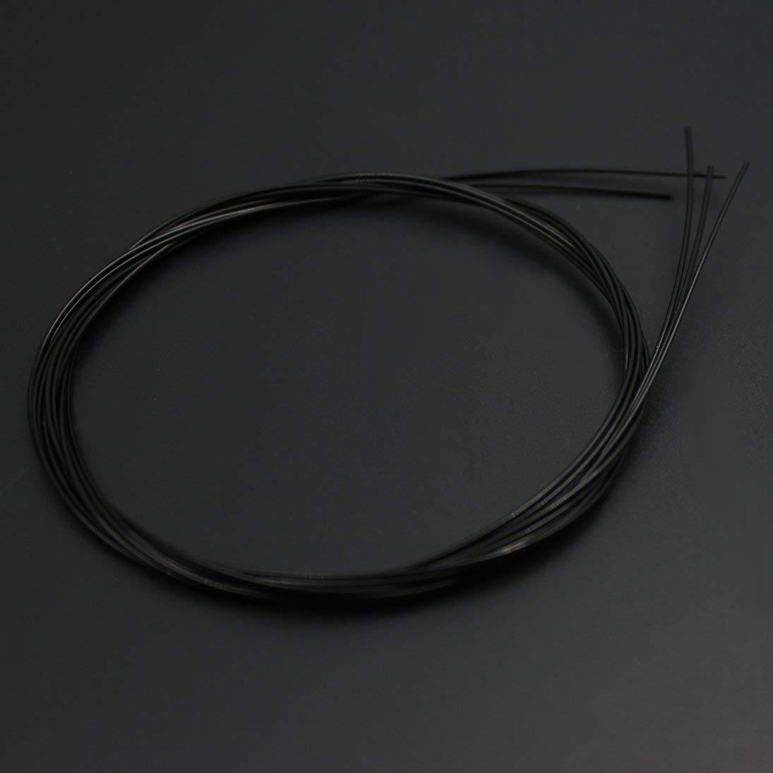 1 UNID C101 Cuerdas de Guitarra Cl/ásica Folk Accesorios de Repuesto de Nylon Negro ToGames-ES