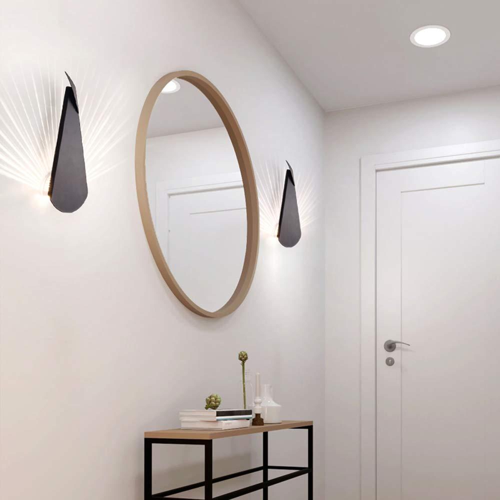 Ganeep Postmoderne LED 1.8W Neuheit Wohnzimmer Wandleuchten Neuheit 1.8W Gang Beleuchtung Nordic Leuchten Loft Pfau Wandlampen Schlafzimmer Nachtwandleuchten Eisen Kreative Schmucklampe (Farbe   Weiß) 65456d