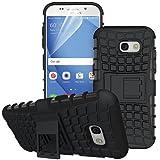 betterfon | Outdoor Handy Tasche Hybrid Case Schutz Hülle Panzer TPU Silikon Hard Cover Bumper für Samsung Galaxy A3 (2017) SM-A320 Schwarz