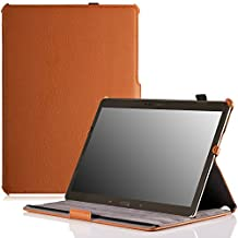 MoKo Samsung Galaxy Tab S 10.5 Case - Slim-Fit Multi-angle Folio Cover Case for Samsung Galaxy Tab S 10.5 Inch Android Tablet, BROWN (With Smart Cover Auto Wake / Sleep)