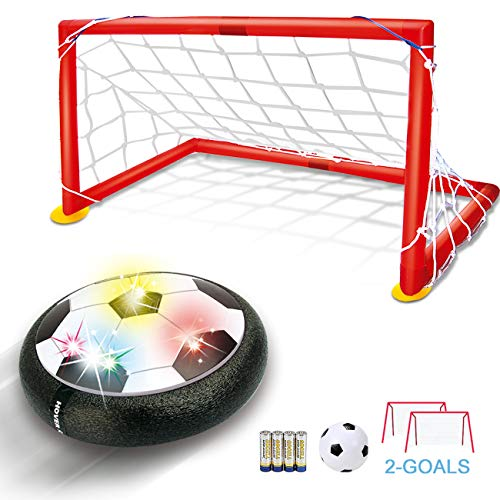 Hover Soccer Ball Kids Toys - TFS LED Air Soccer Set with 2 Goals and Inflatable Ball, Indoor Outdoor Sports Ball Time Killer Games, Best Gift for Boys Girls Age 3 4 5 6+ Years Old, Batteries Included