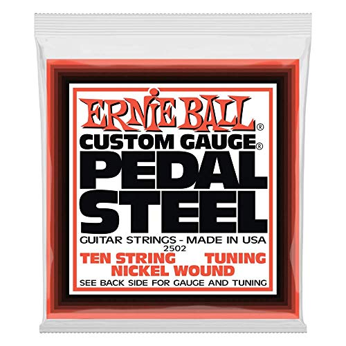 Ernie Ball Pedal Steel Nickel Wound 10-String Set, E9 Tuning - Pedal Steel Guitar