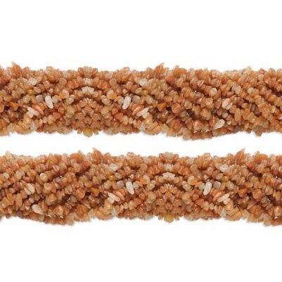 Chip Red Aventurine Gemstone Beads 4x7mm 36 Inch Strand