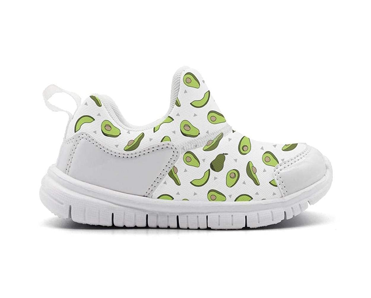 Kids Avocado Minimal Cute Fruit Fashion Lightweight Mesh Athletic Running Shoes