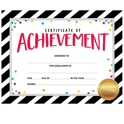 Creative Teaching Press Award Incentive Bold & Bright Certificate of Achievement, Large  (2564)