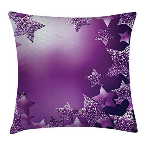 Christmas Throw Pillow Cushion Cover by Ambesonne, Xmas Stars