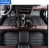Gallop Full Set Waterproof Leather Custom Fit Floor Liners Floor Mats for BMW X5 2016 5 seats - Black