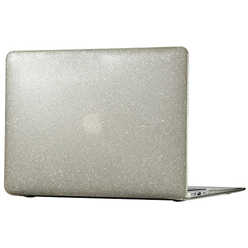 - Speck Products 86370-5636 SmartShell Case for Macbook Air 13-Inch, Clear with Gold Glitter