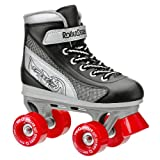 Roller Derby Firestar Black/Red Boys Quad Roller Skates - UK 1