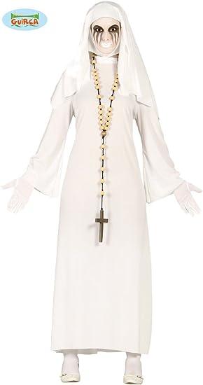 Guirca - Disfraz de Suora Fantasma, Color Blanco, Talla única ...