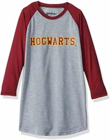 Intimo Big Girls' Harry Potter L/s Hogwarts Raglan Night Gown
