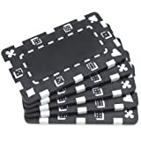 Brybelly Rectangular European-Style Poker Plaques - Pack of 5
