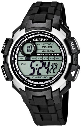 Calypso watches Calypso watches - Reloj digital de cuarzo para niño con correa de plástico, color negro: Amazon.es: Relojes