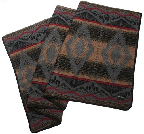 RUTH BOAZ Outdoor Wool Blend Blanket Ethnic Inka Pattern BCD