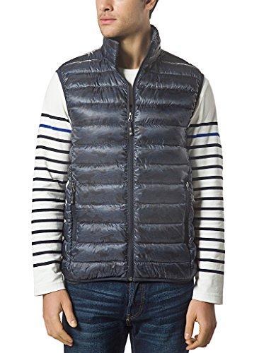 Mens Puffer Vest (XPOSURZONE Men Packable Ultralight Down Vest Outdoor Puffer Vest Navy Camo M)