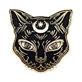 Black Cat Enamel Pin by Real Sic - Cat Pin - Premium Halloween Accessory