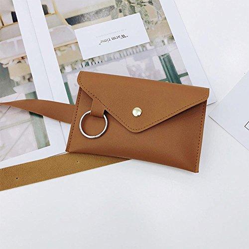 Satchel Brown Waist Women Casual Everpert Chest Leather Pack PU Shoulder Handbag Light Messenger x7Bxtqp1