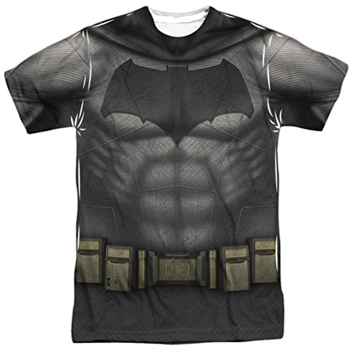 Batman vs. Superman- Batman Uniform Costume T-Shirt Size (Mens Batman Costume T-shirt)