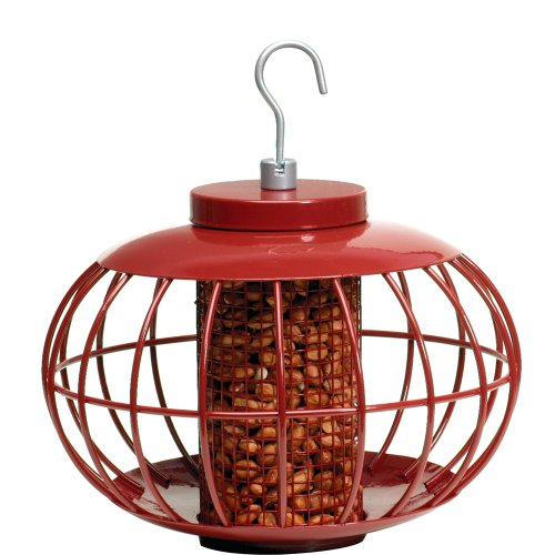 The Nuttery Chinesische Laterne Vogelfutterstation, chinesisch, Rot