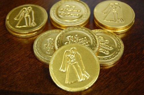 (500pcs - Belgian Milk Wedding Favor Chocolate Coins)