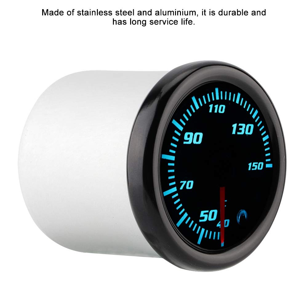KIMISS 2inch 10-15V Car Oil Temp Gauge Digital Oil Temperature Meter Gauge with Sensor 7 Color by KIMISS (Image #4)