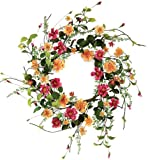 Melrose International Wild Flower Garden Artificial Wreath, 22-Inch