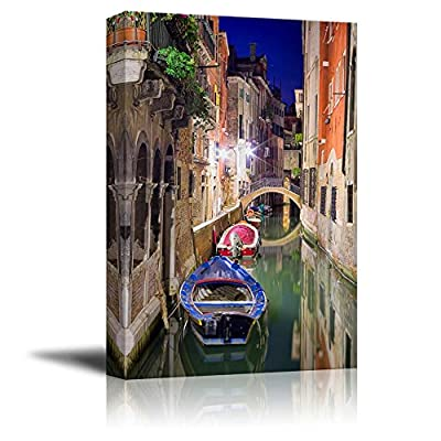 Made to Last, Handsome Design, Beautiful Scenery Landscape Venice at Night Wall Decor
