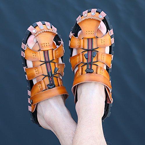 Chaussures Plage Mâles Respirantes 11 Sandales Doux D'été Refroidisseur Chaussons Noir D'hommes De Bluelover dqxTB6Ed